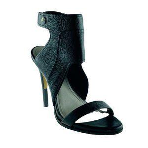 POUR La VICTOIRE Shoes Black Size 7 Leather Heels